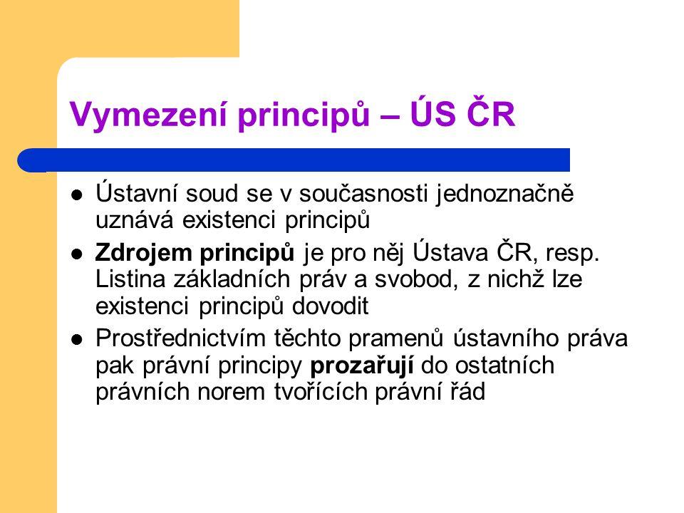 Vymezení principů – ÚS ČR