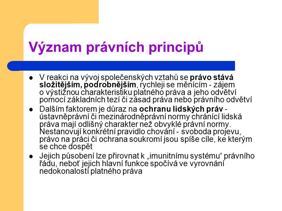 Význam právních principů