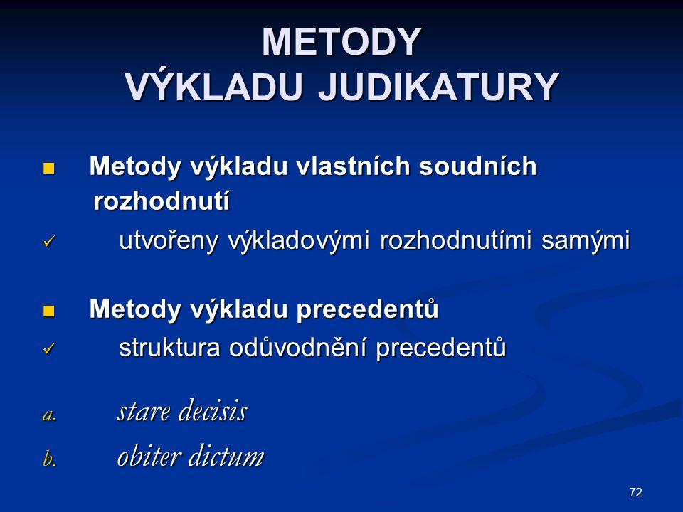 METODY VÝKLADU JUDIKATURY
