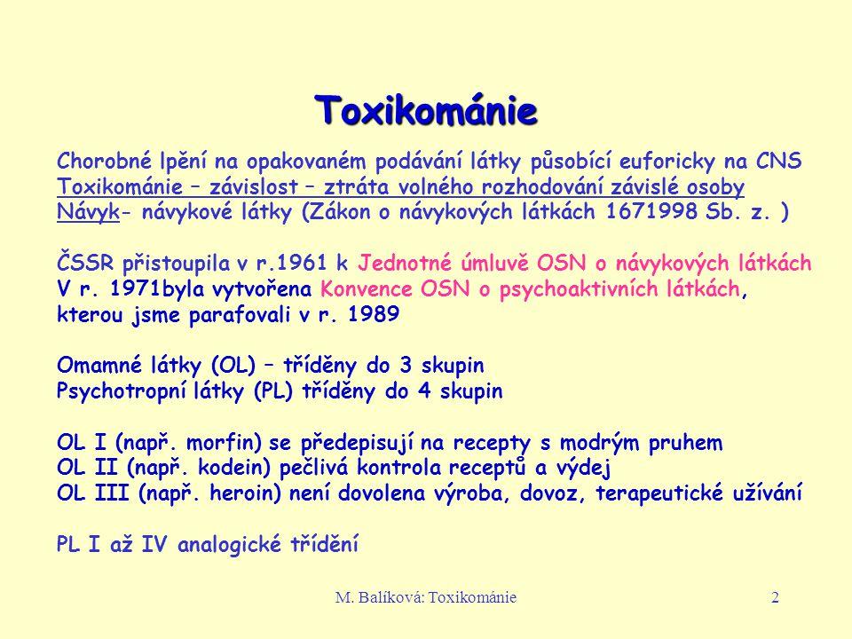 M. Balíková: Toxikománie