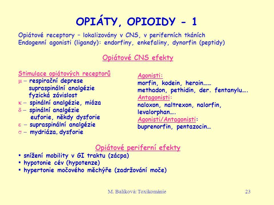 Opiátové periferní efekty