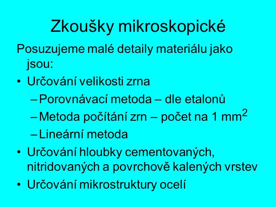 Zkoušky mikroskopické