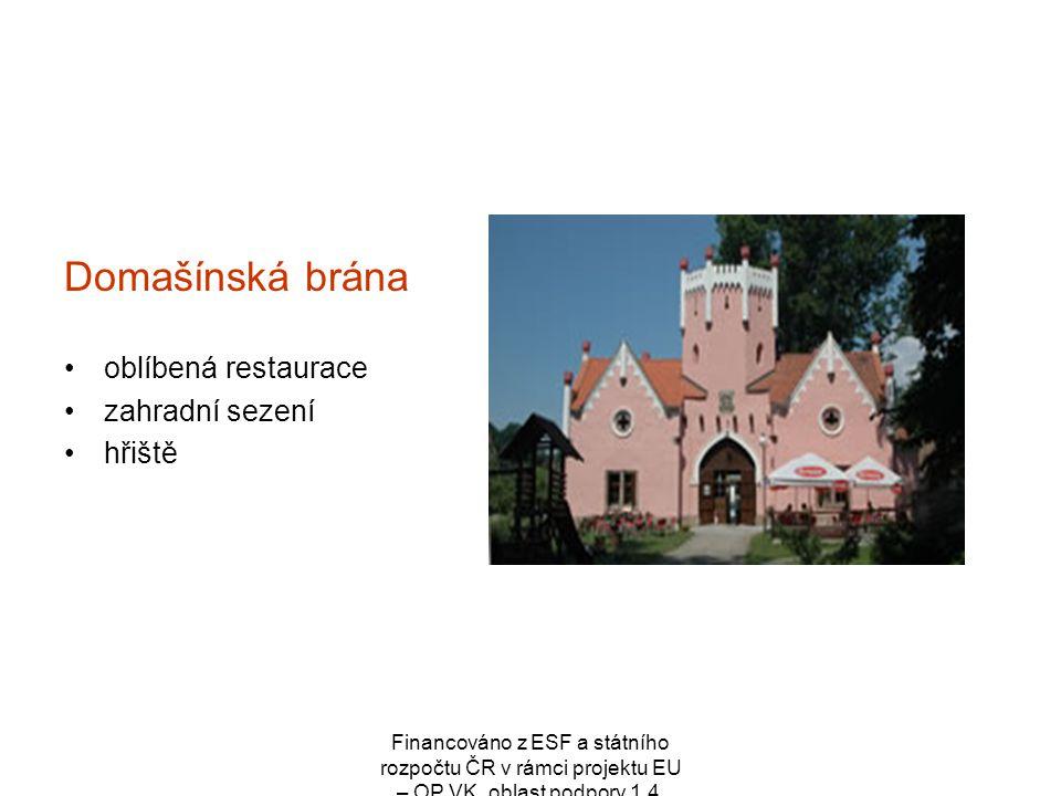 Domašínská brána oblíbená restaurace zahradní sezení hřiště