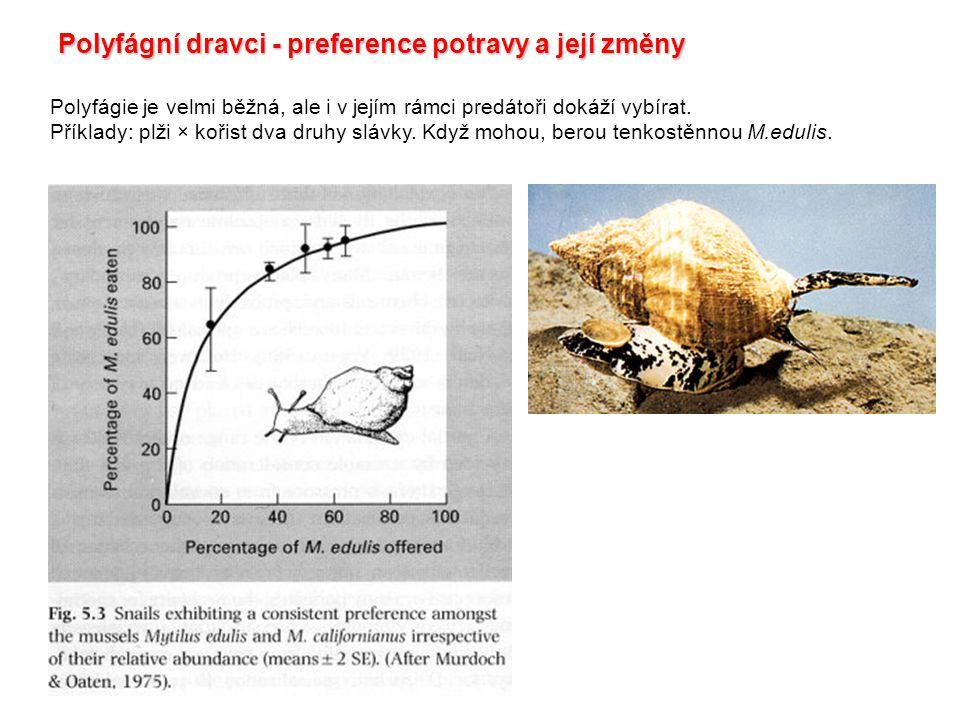 Polyfágní dravci - preference potravy a její změny