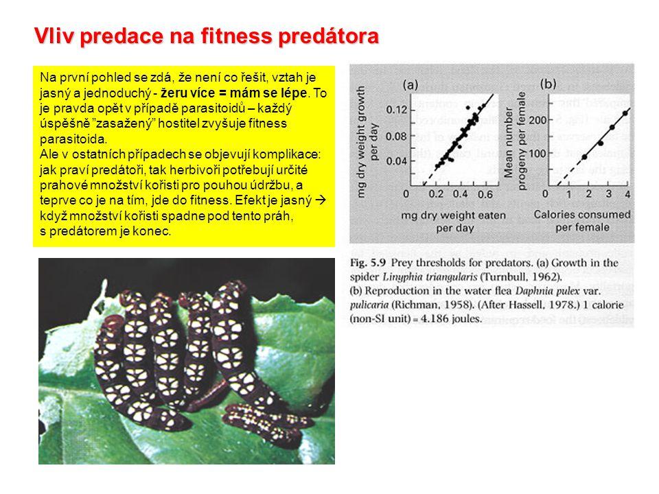 Vliv predace na fitness predátora