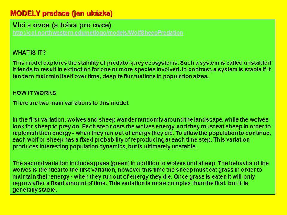 MODELY predace (jen ukázka)