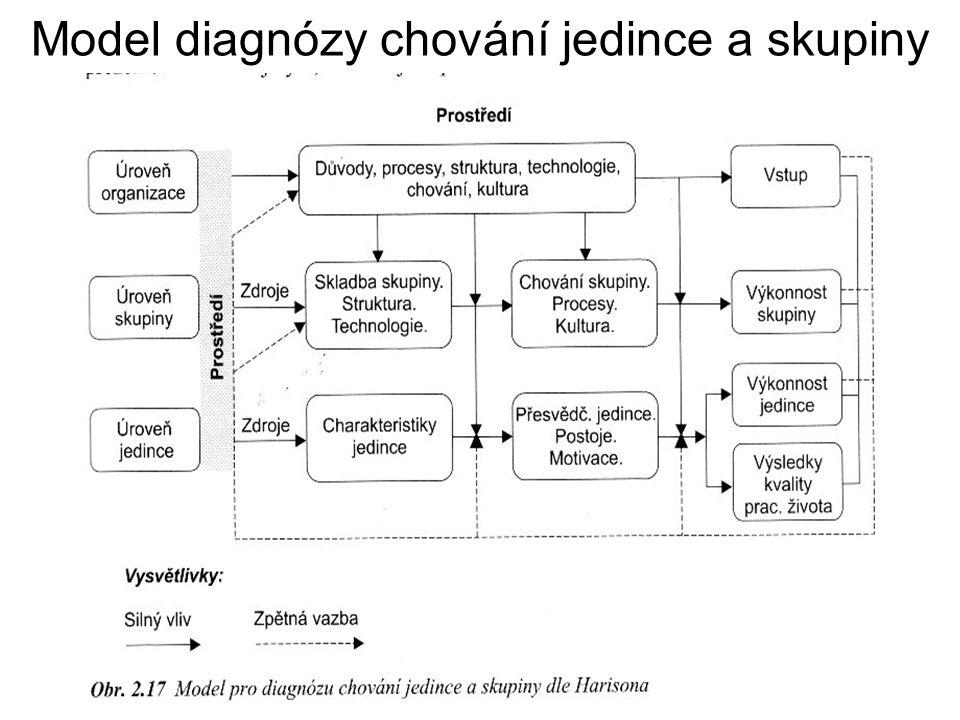 Model diagnózy chování jedince a skupiny