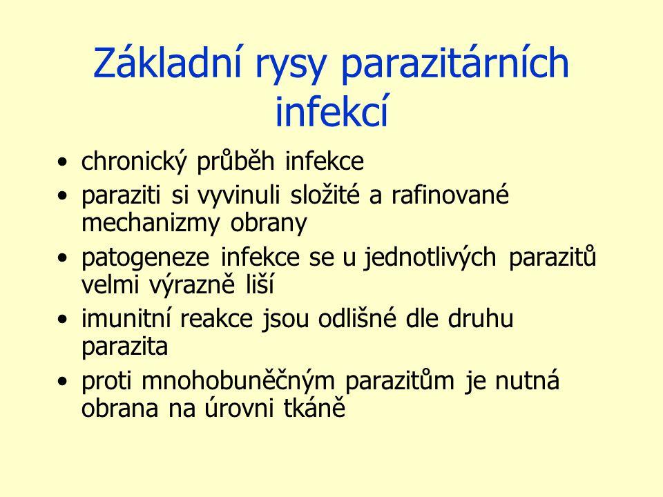 Základní rysy parazitárních infekcí