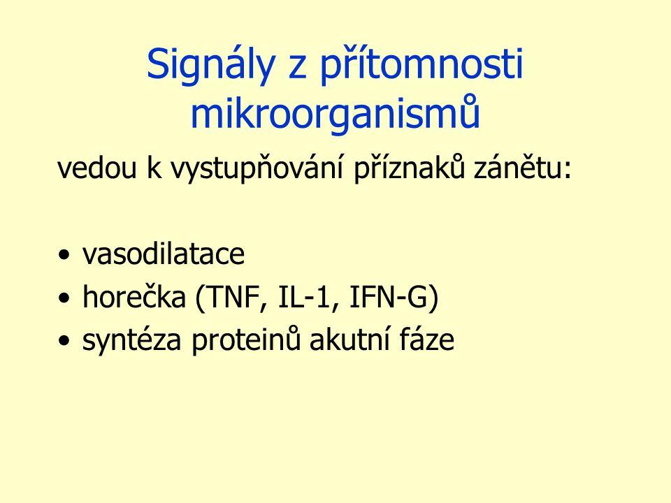 Signály z přítomnosti mikroorganismů