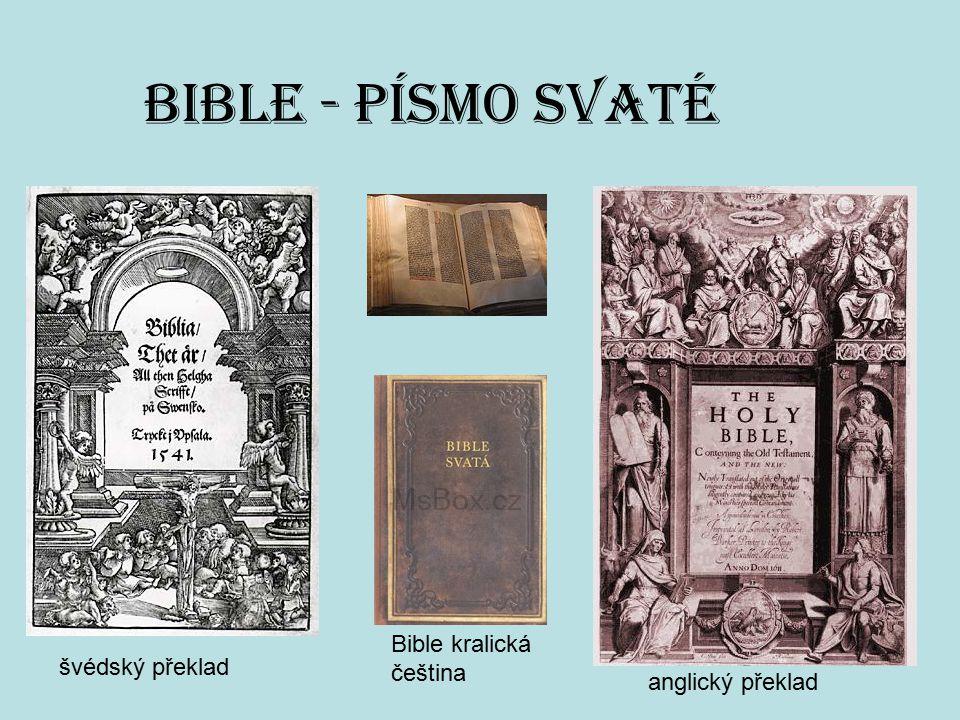 BIBLE - Písmo svaté Bible kralická čeština švédský překlad