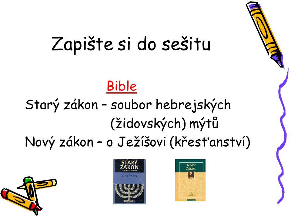 Zapište si do sešitu Bible Starý zákon – soubor hebrejských