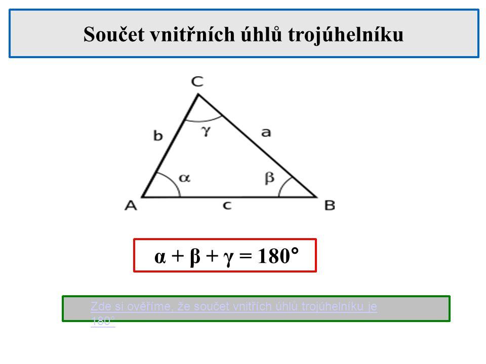 Součet vnitřních úhlů trojúhelníku