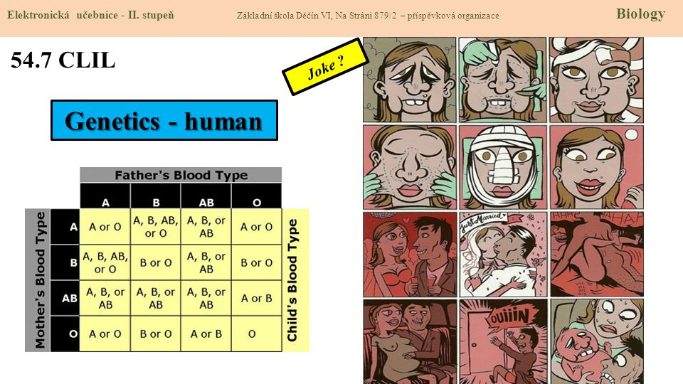 Genetics - human 54.7 CLIL Joke