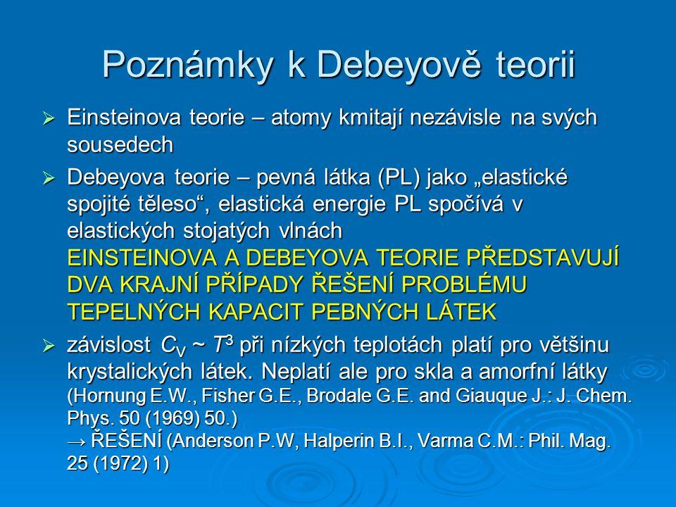 Poznámky k Debeyově teorii