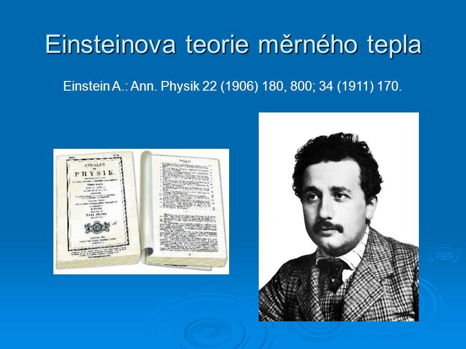 Einsteinova teorie měrného tepla