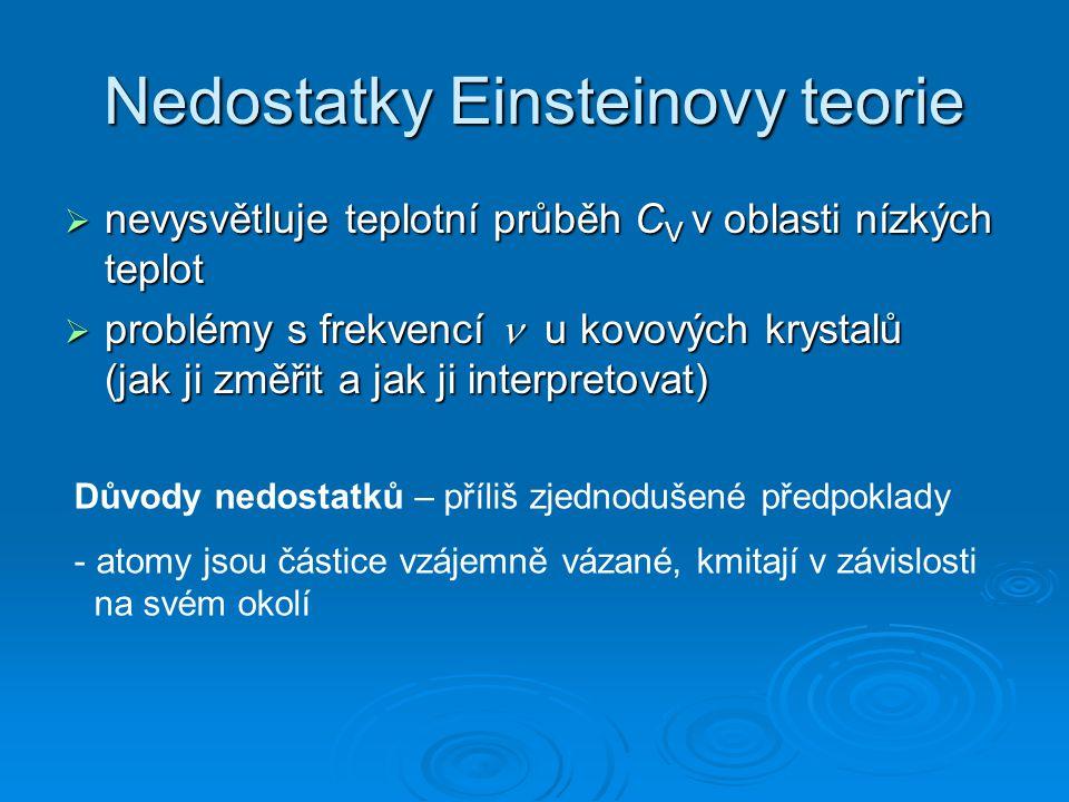 Nedostatky Einsteinovy teorie