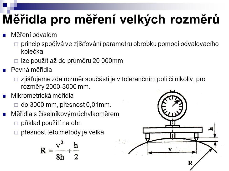 Měřidla pro měření velkých rozměrů