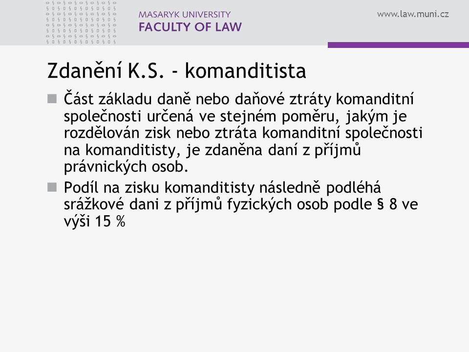 Zdanění K.S. - komanditista
