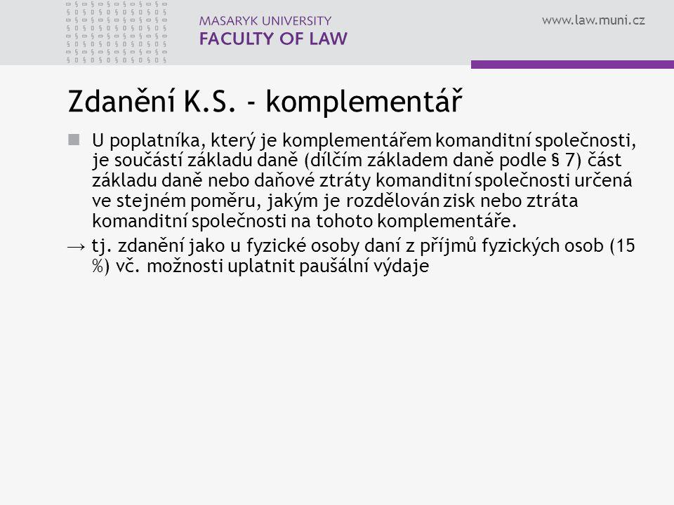 Zdanění K.S. - komplementář