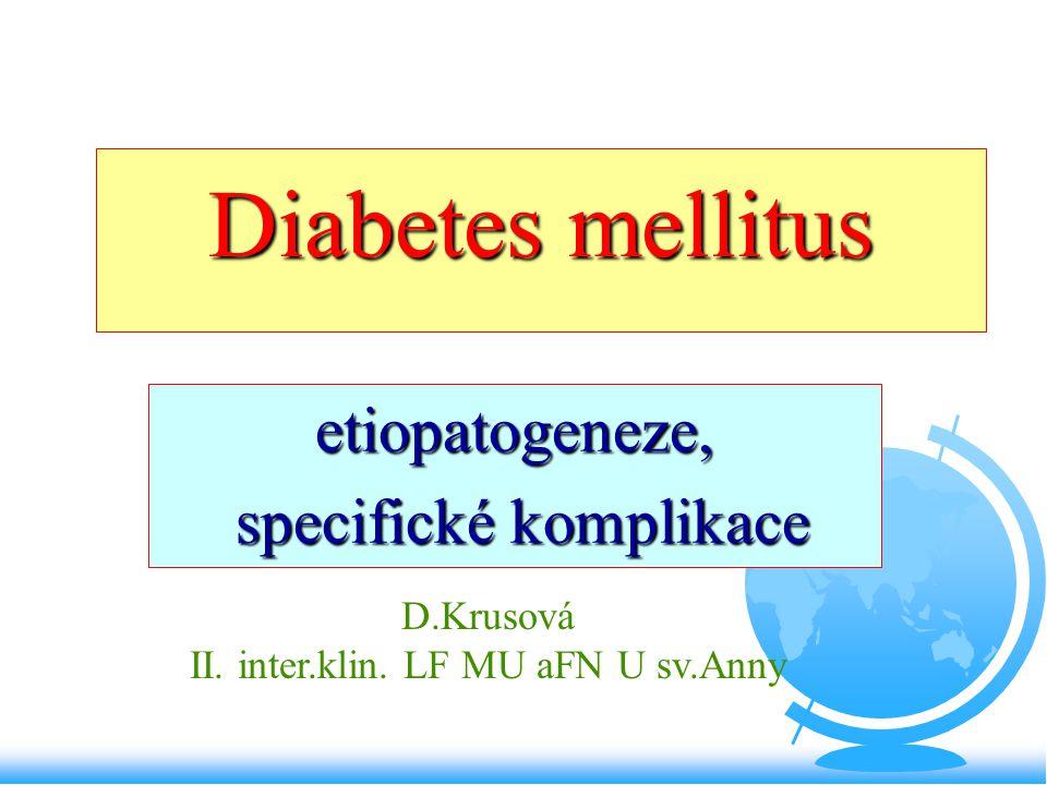 etiopatogeneze, specifické komplikace