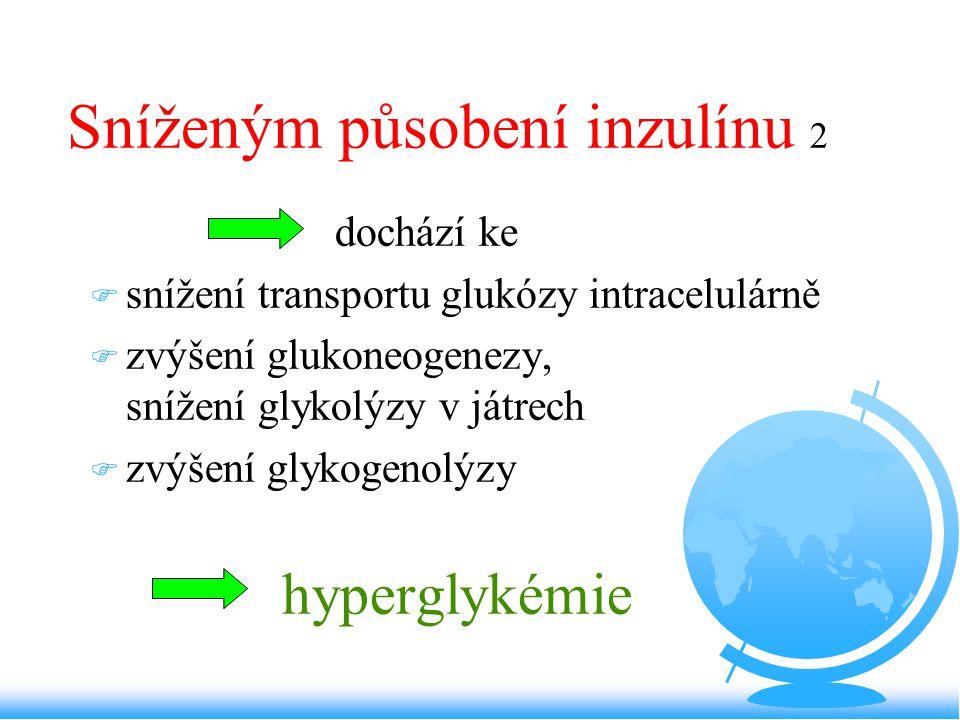 Sníženým působení inzulínu 2