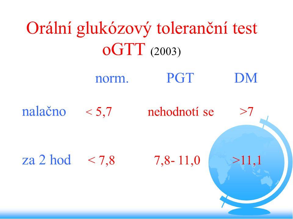 Orální glukózový toleranční test oGTT (2003)