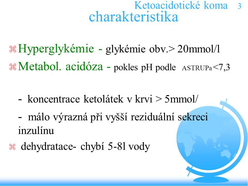 Ketoacidotické koma 3 charakteristika