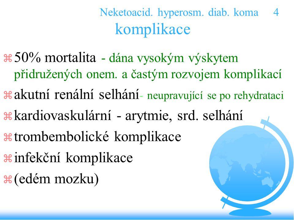 Neketoacid. hyperosm. diab. koma 4 komplikace