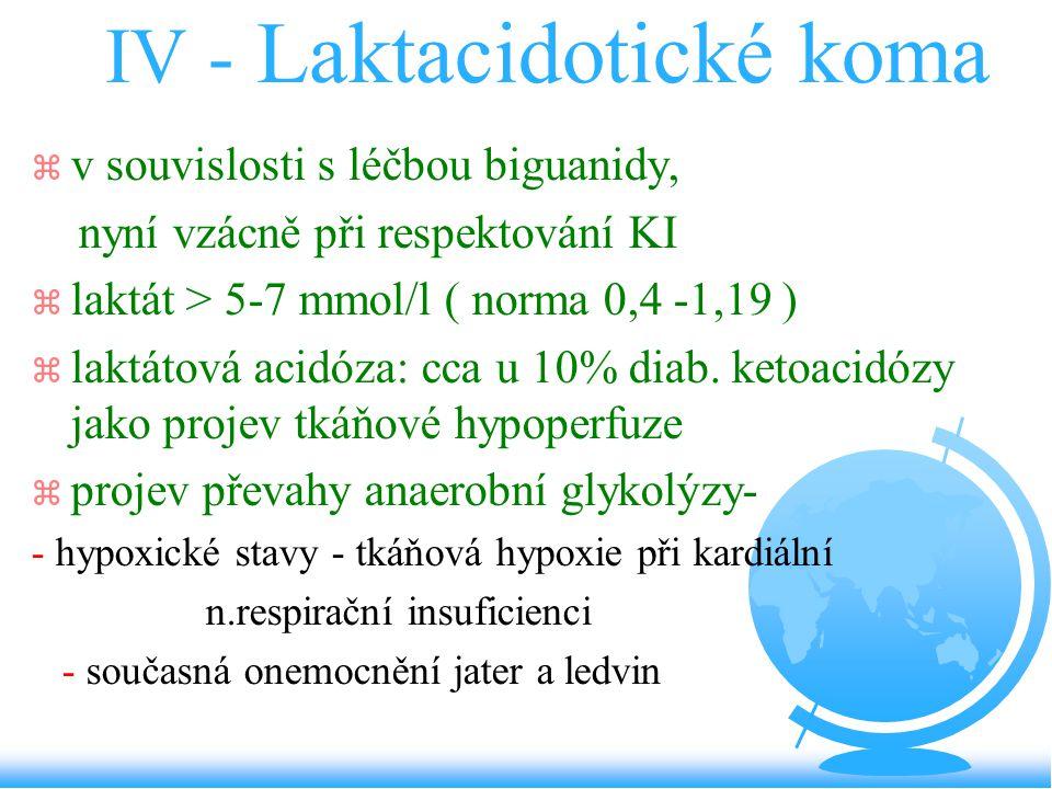 IV - Laktacidotické koma