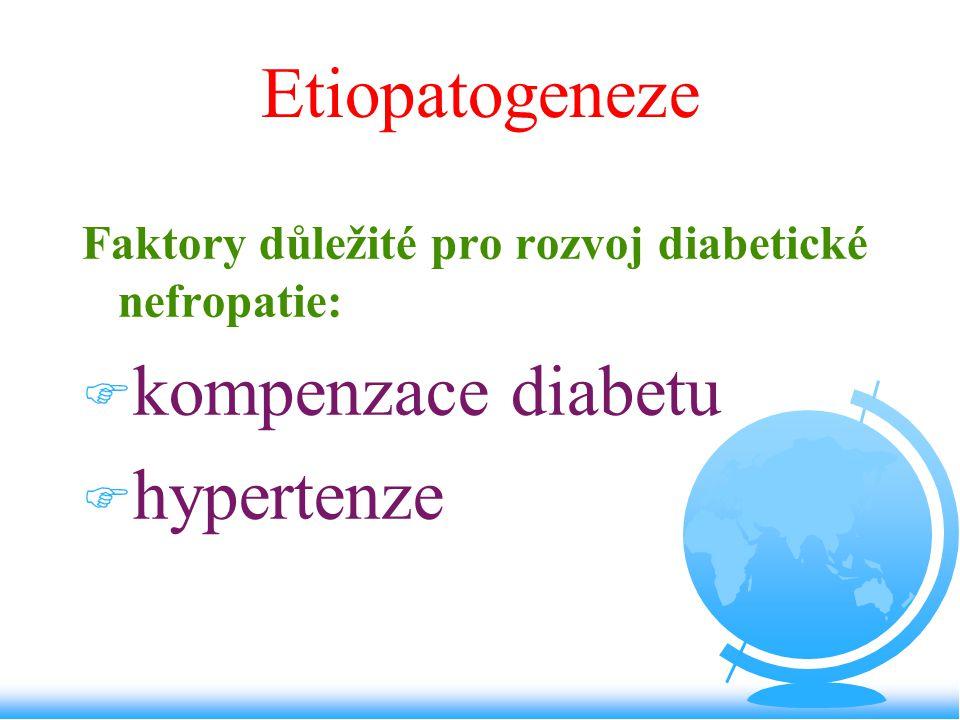 Etiopatogeneze kompenzace diabetu hypertenze