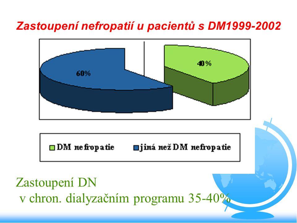 Zastoupení nefropatií u pacientů s DM1999-2002