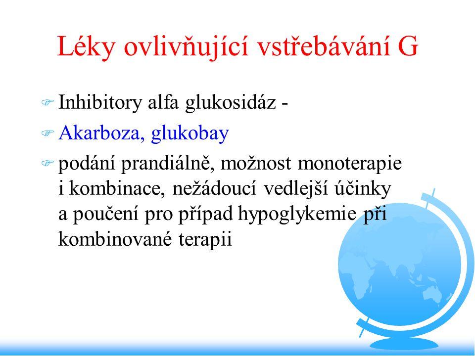 Léky ovlivňující vstřebávání G