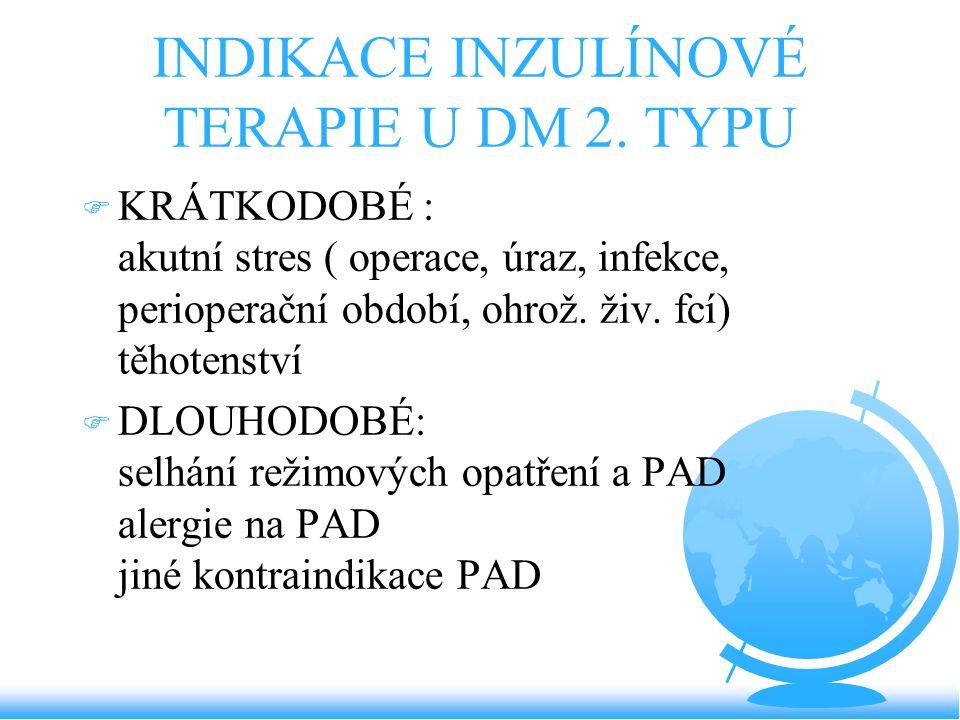 INDIKACE INZULÍNOVÉ TERAPIE U DM 2. TYPU
