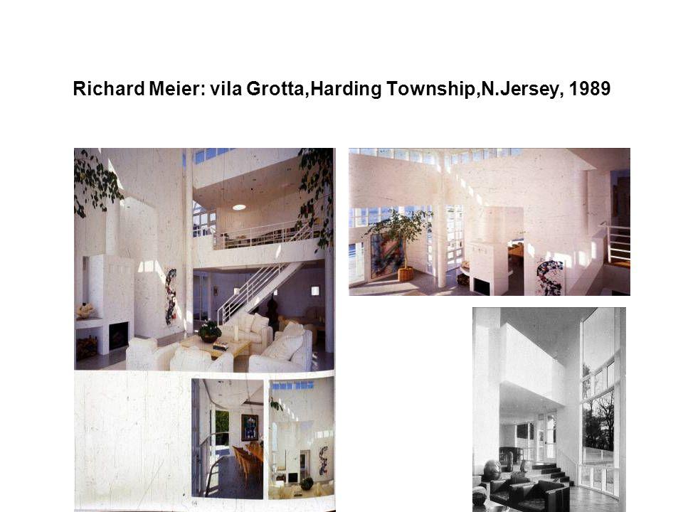 Richard Meier: vila Grotta,Harding Township,N.Jersey, 1989