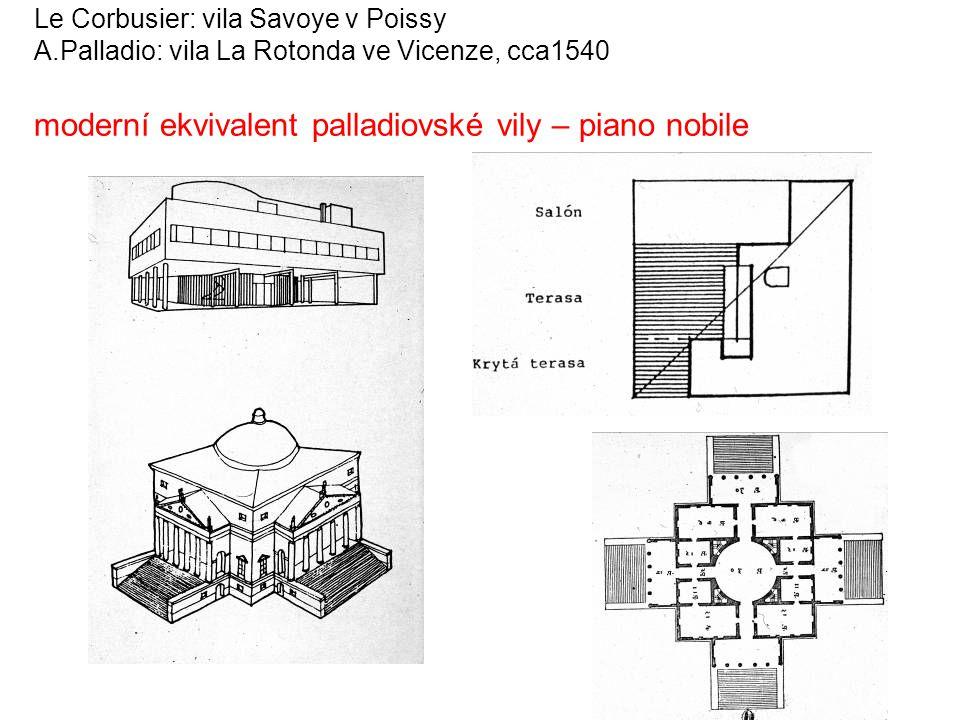Le Corbusier: vila Savoye v Poissy A