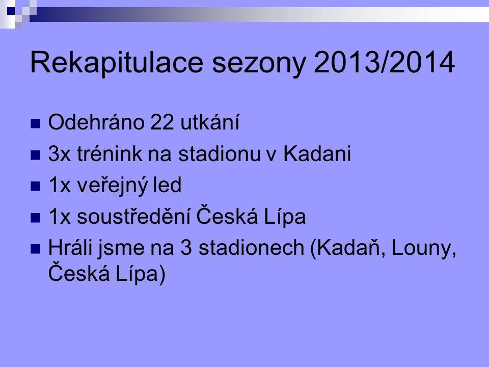 Rekapitulace sezony 2013/2014 Odehráno 22 utkání