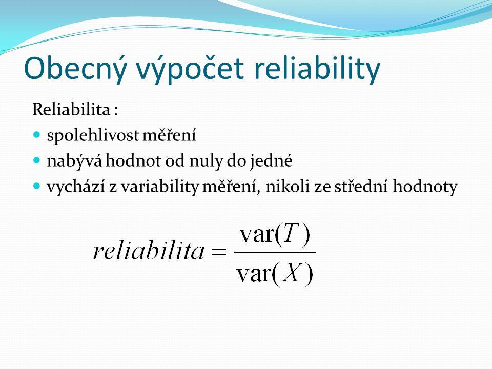 Obecný výpočet reliability