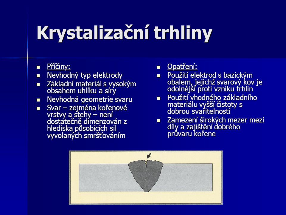 Krystalizační trhliny