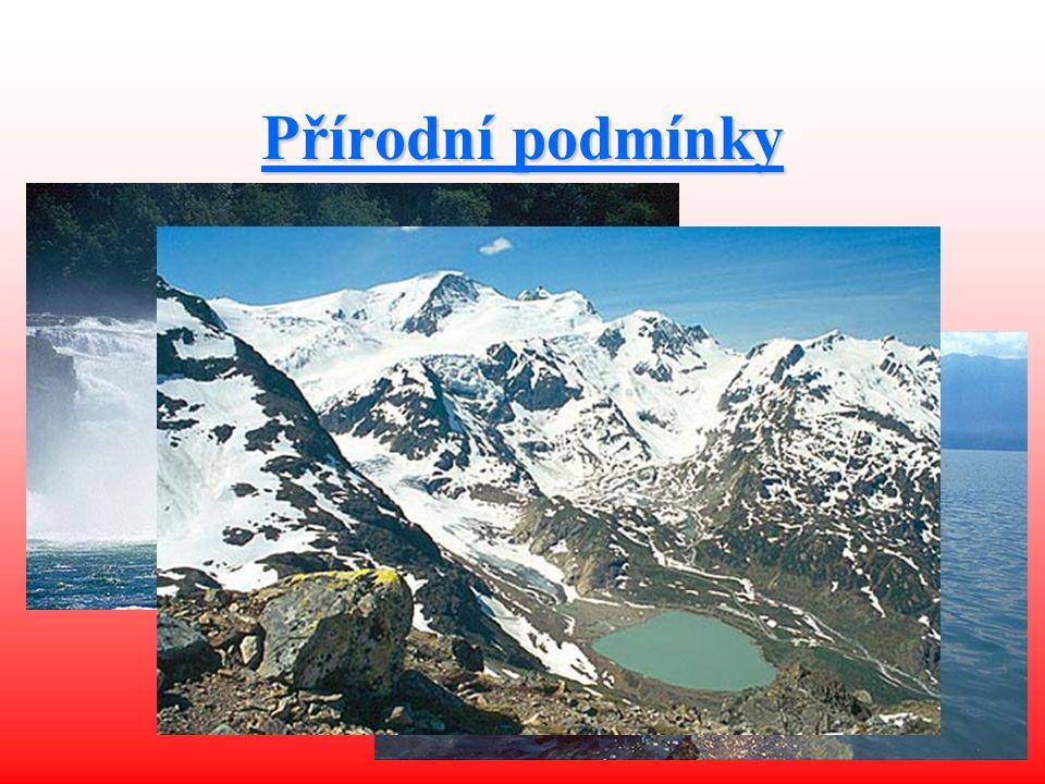 Přírodní podmínky Nejvyšší bod: Monte Rosa (4 634 m n. m.)