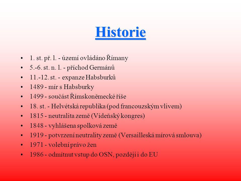 Historie 1. st. př. l. - území ovládáno Římany
