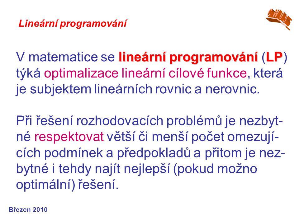 CW05 Lineární programování.