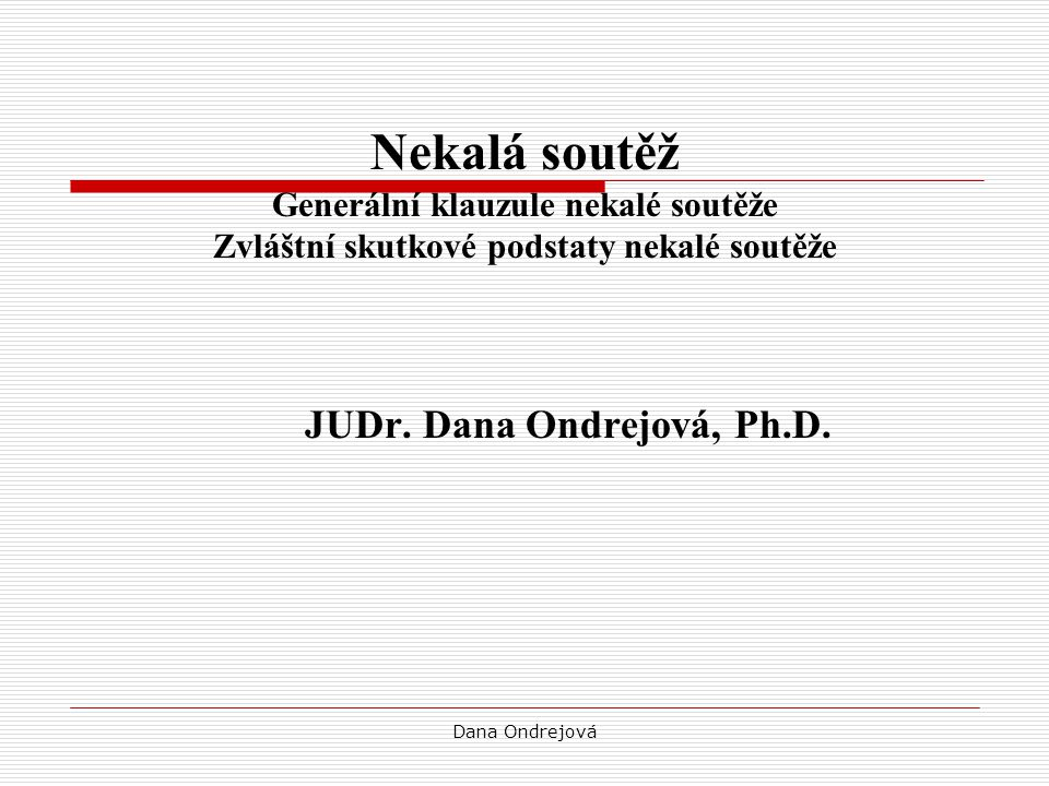 JUDr. Dana Ondrejová, Ph.D.