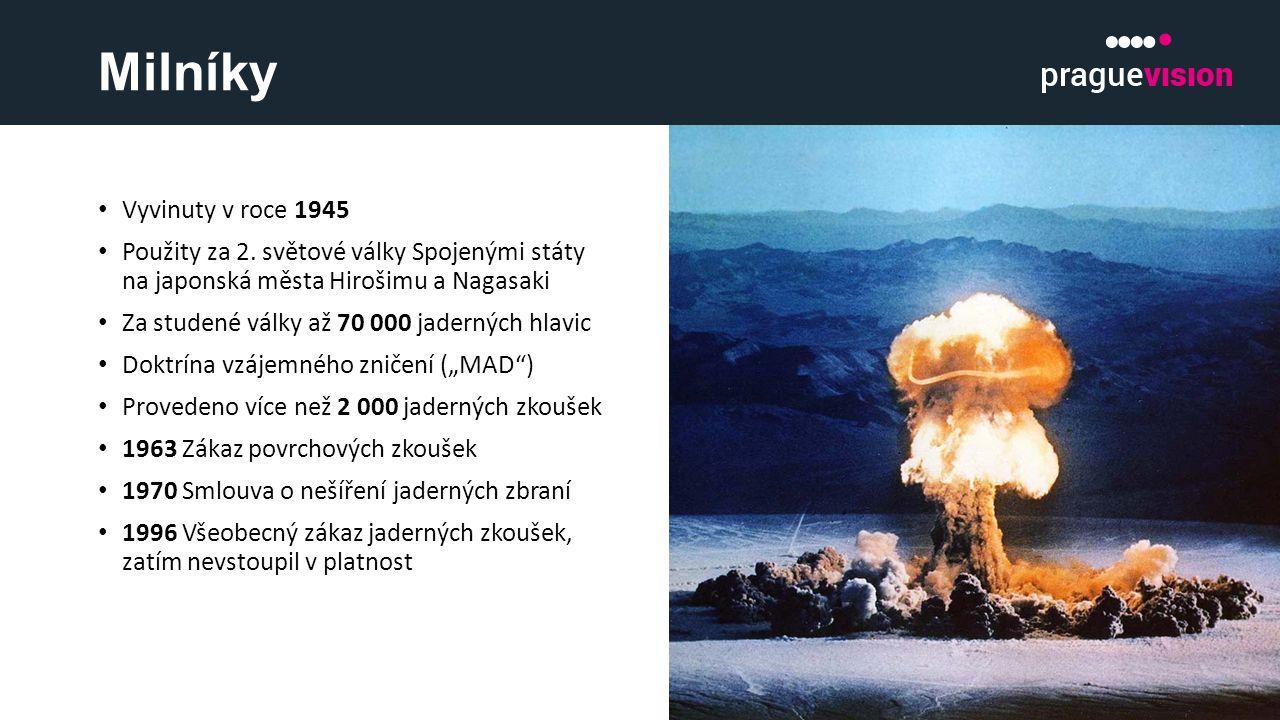 Milníky Vyvinuty v roce 1945