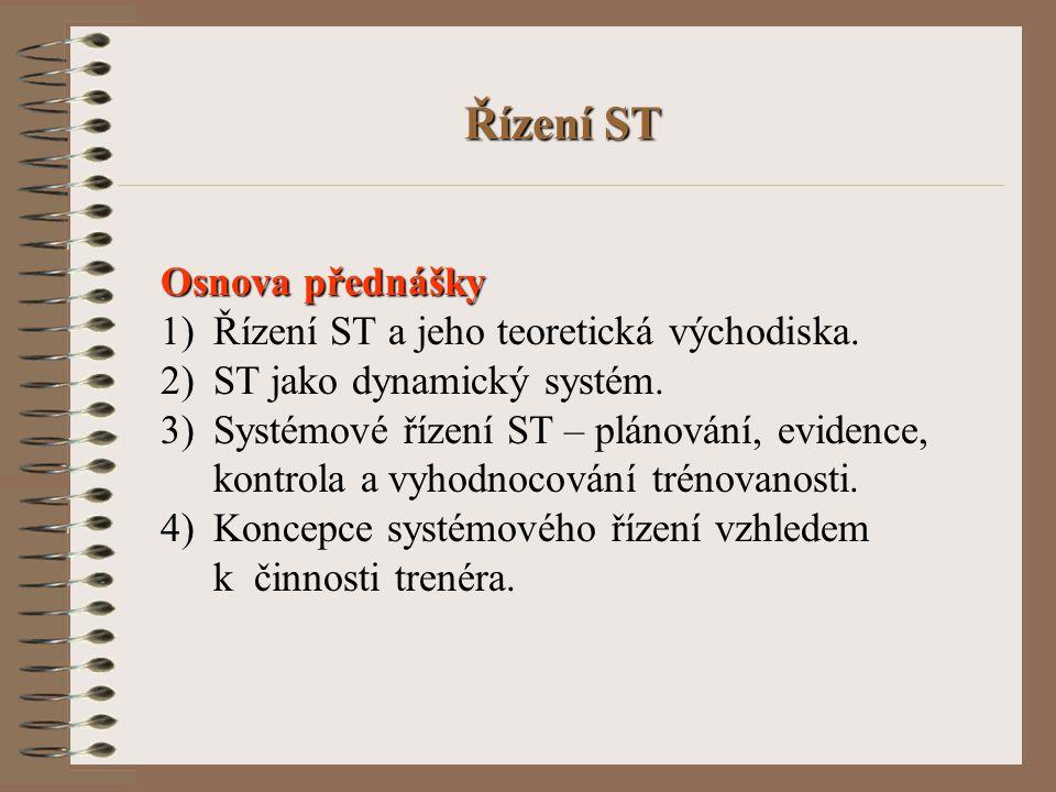 Řízení ST Osnova přednášky Řízení ST a jeho teoretická východiska.