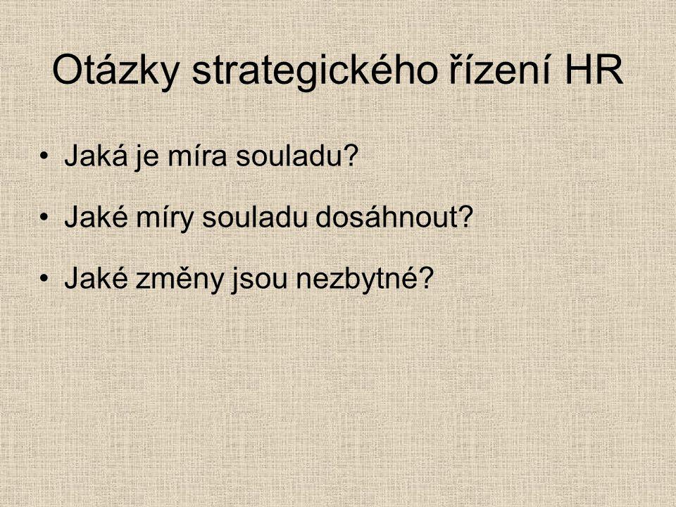 Otázky strategického řízení HR