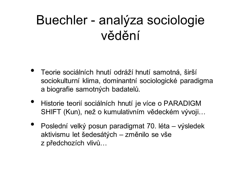 Buechler - analýza sociologie vědění