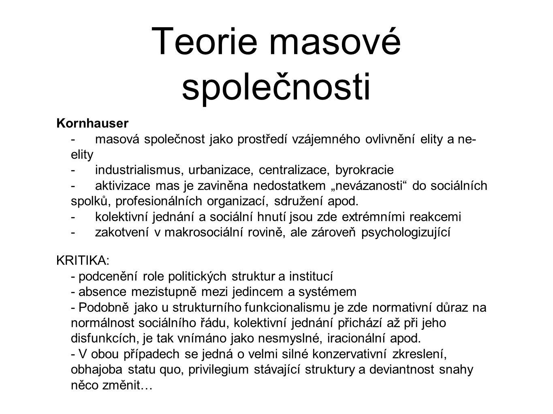 Teorie masové společnosti