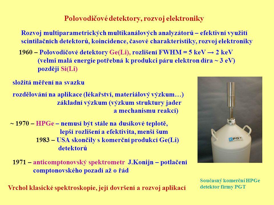 Polovodičové detektory, rozvoj elektroniky