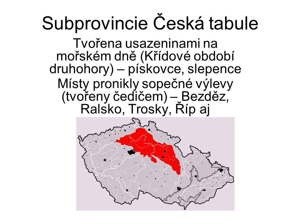 Subprovincie Česká tabule