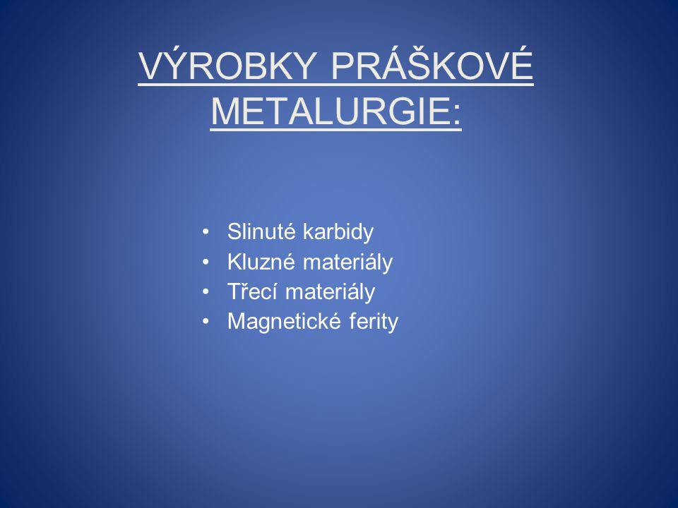Výrobky práškové metalurgie: